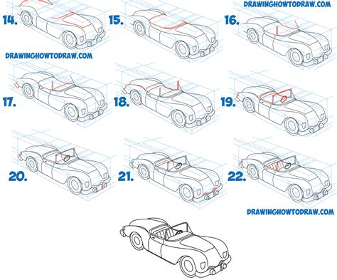 How To Draw A Car Step By Step With Pictures by How To Draw A Car Convertible In Two Point Perspective