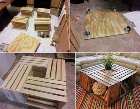 Diy wood crate coffee table free plans picture instructions. 20 DIY Wooden Crate Coffee Tables | Guide Patterns