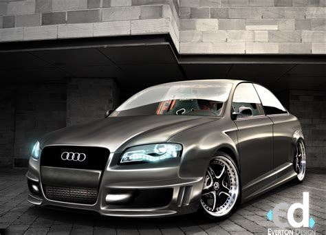 Cars Audi Tuning 3d Wallpaper