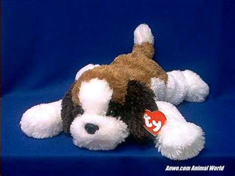 saint bernard plush stuffed animal ty yodels  animal world
