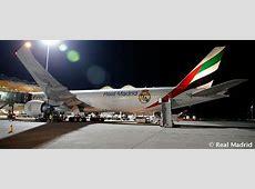 Real Madrid's Emirates plane Real Madrid CF