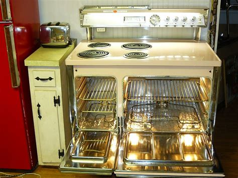vintage original pink double oven general electric stove flickr photo sharing