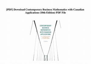 Mathematics With Applications 10th Edition Pdf Download