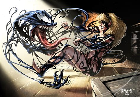 Gwen Stacy Fights Alien Symbiote Gwen Stacy Porn