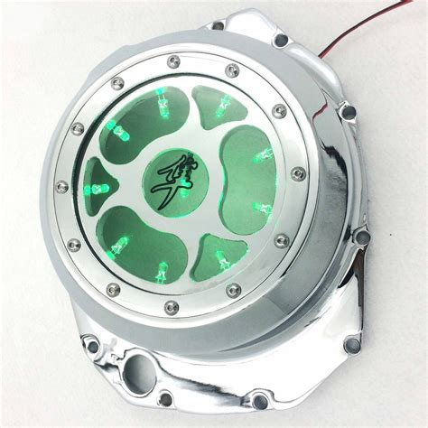 motorcycle parts blue led   engine clutch cover