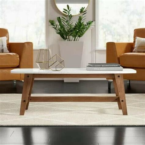 """Get the best deal for wooden contemporary coffee table tables from the largest online selection at ebay.com. Walker Edison Rectangle Coffee Table 49"""" with Wood"""