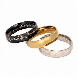 ring of power gold silver black 316l stainless steel ring With ring of power wedding band
