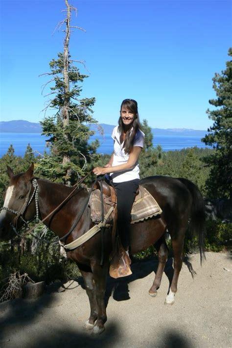 riding horseback lake tahoe overlooking