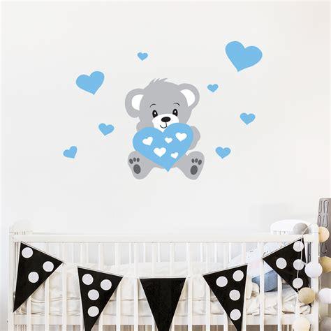 stickers chambre bébé nounours cheap stickers muraux pour les enfants sticker nounours