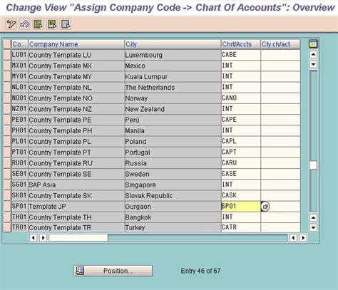 assign company code to chart of accounts fico stechies