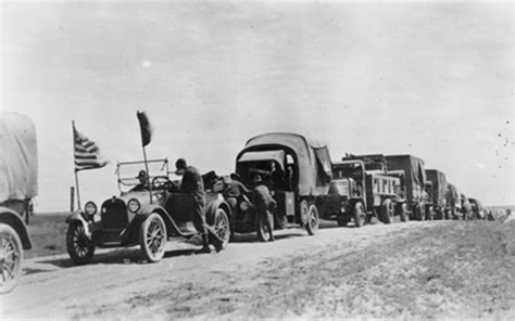 eisenhower 1919 trip convoy army history country cross highway interstate system road roads through dwight worst american urban building suffered