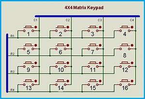 Circuit Diagram 4x4 Matrix Keypad