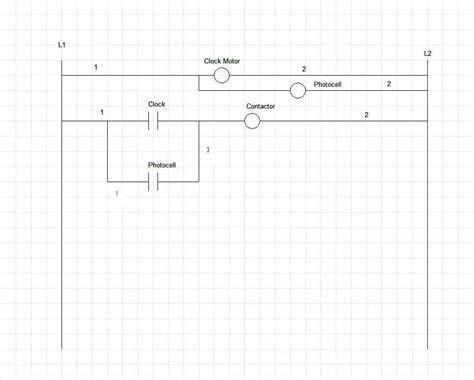 photocell  timeclock wiring diagram wiring diagram  schematic diagram images