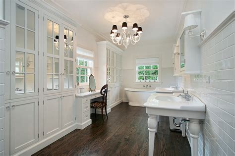 hardwood floors for bathrooms 32 bathrooms with dark floors