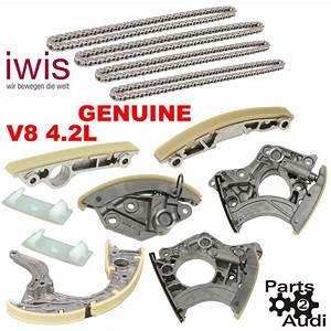 Oem Engine Timing Chain Tensioner Rails Chains Kit Fits Audi Vw V8 4 2l