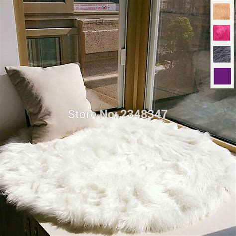 chaise fourrure faux fur artificial sheepskin fluffy chair seat sofa