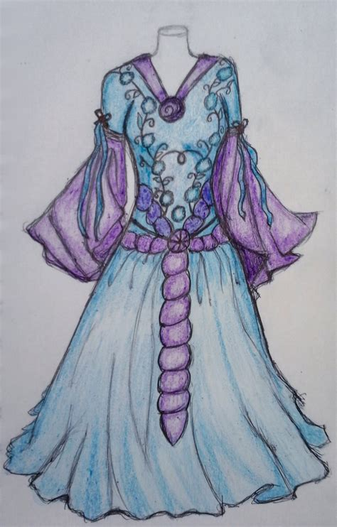 blue and purple wedding dress blue and purple wedding dress by technojunkie123 on deviantart