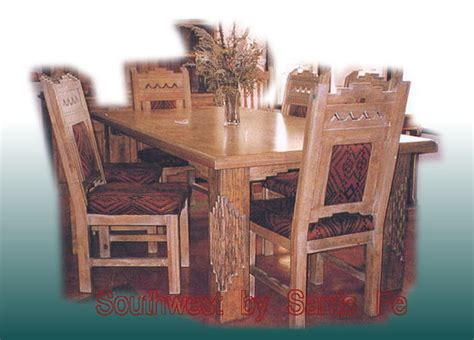 zuni southwestern style dining tables