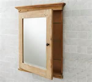mason reclaimed wood recessed medicine cabinet wax pine