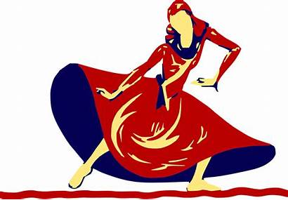 Dancing Dance Clipart Lady Clip Festival Dancer