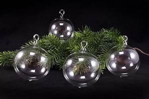 Weihnachtskugeln Glas Lauscha : 4 gro e weihnachtskugeln transparent 10cm unbemalt ~ A.2002-acura-tl-radio.info Haus und Dekorationen