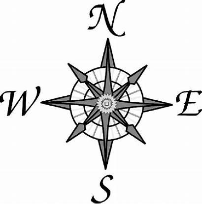 Compass Map Rose Clipart Symbols North Clip