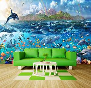 Tropical Sealife, Ocean Fishes wall mural decor photo ...