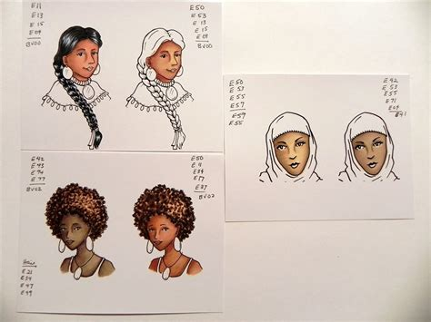 american skin color creative sting with paula copic color and ink workshop