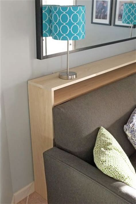 sofa table with outlet console table bookshelf tutorial electrical outlets