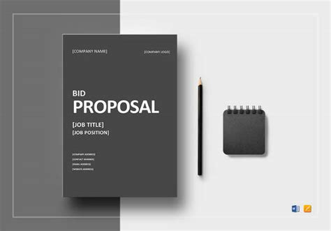 sample bid proposal templates   ms word