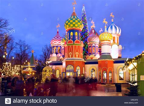 the russian christmas theme in tivoli copenhagen denmark