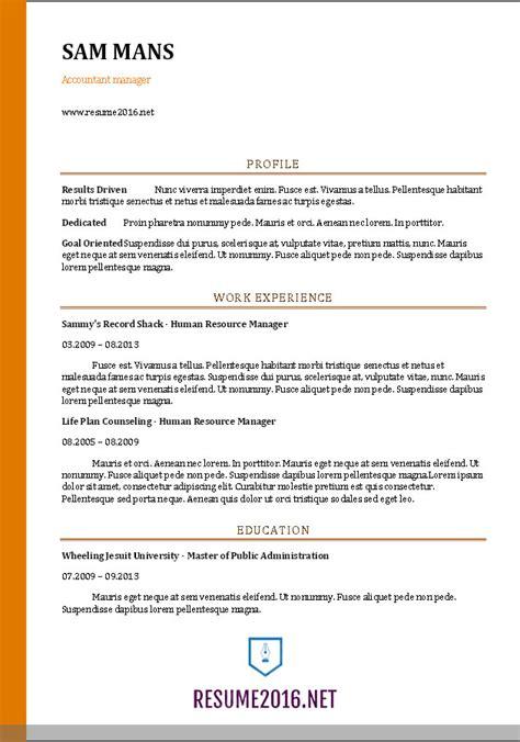 accountant resume sample