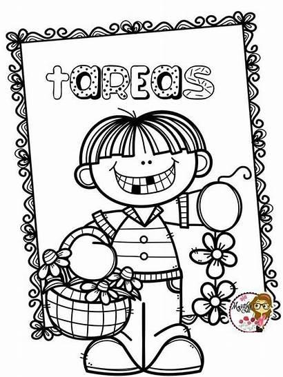 Tareas Portadas Caratulas Cuadernos Dibujos Escolares Preescolar