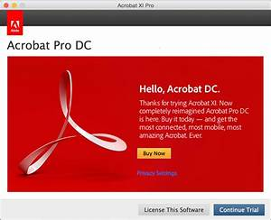 acrobat xi opens in trial mode or shows serial number With acrobat dc trial