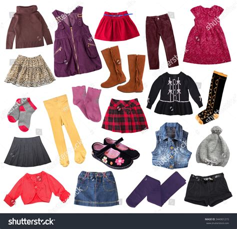 Casual Child Girl Clothes Set Isolated Stock Photo 344901215 - Shutterstock