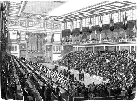 si e de l assembl nationale file intérieur de la salle de l 39 assemblée nationale 1848
