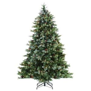 martha stewart faux christmas tree martha stewart living 9 ft indoor pre lit led frosted