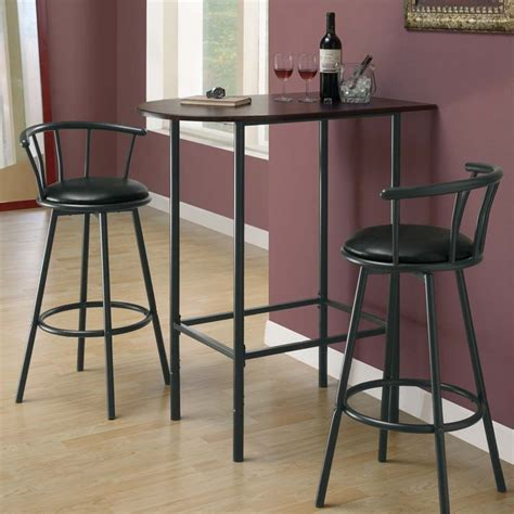 metal pub table in black and cappuccino i 2345