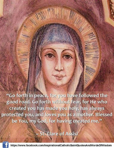 st clare of assisi quote catholic