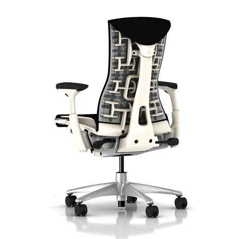 herman miller bureau herman miller embody chair black rhythm with white frame