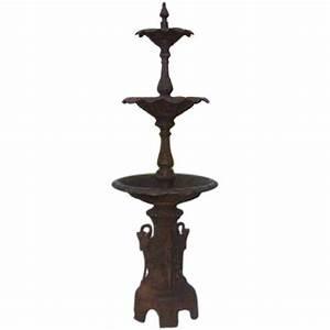 American Cast Iron Three Tiered Decorative Fountain, Fiske ...