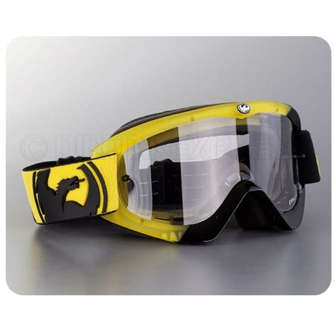 dragon motocross goggles dragon mdx goggles angle yellow black dirtbikexpress
