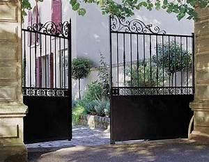 Lapeyre Portail Bois : portail fer forg pas cher portail battant bois sfrcegetel ~ Premium-room.com Idées de Décoration