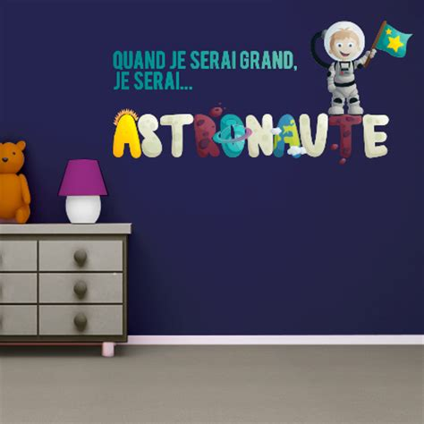 stickers je serai astronaute couleur stickers malin