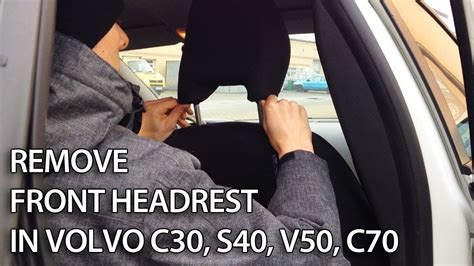 remove front headrest  fold front seat  volvo