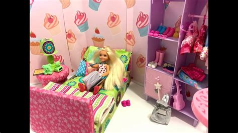 barbie chelsea bedroom morning routine youtube