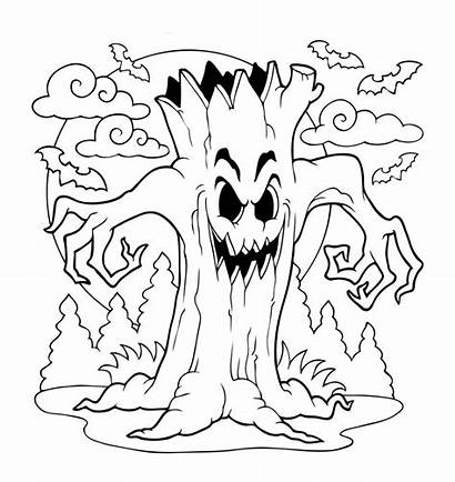 Halloween Coloring Sheets Pages Printable Scary Extraordinary