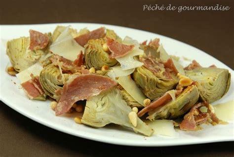 cuisiner artichaut poivrade artichauts poivrade poêlés à l 39 huile pimentée et coppa