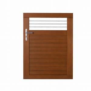 Lapeyre Portail Bois : portillon bois fontaine gamme confort lapeyre porte ~ Premium-room.com Idées de Décoration