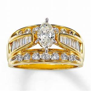 kay diamond engagement ring 2 ct tw marquise cut 14k With gold marquise wedding rings